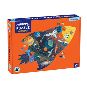 Mudpuppy Outer Space Shaped Puzzle