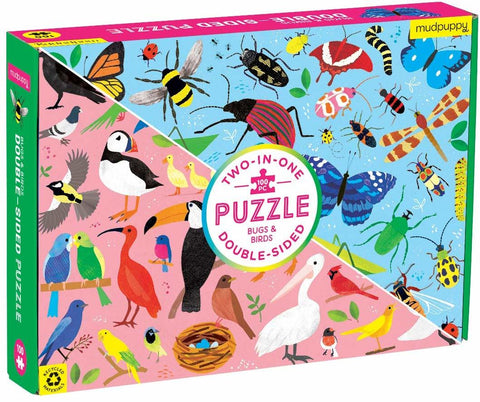 Mudpuppy Bugs & Birds Double-Sided Puzzle