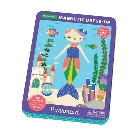 Mudpuppy Purrmaid Magnetic Dress-up Puzzle