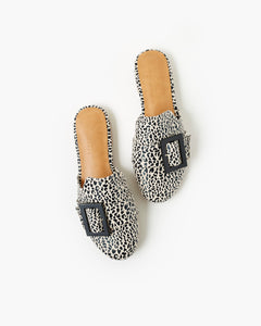 Lt Tan Leopard Meadow Mule