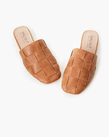 Rommie Tan Leather Mule