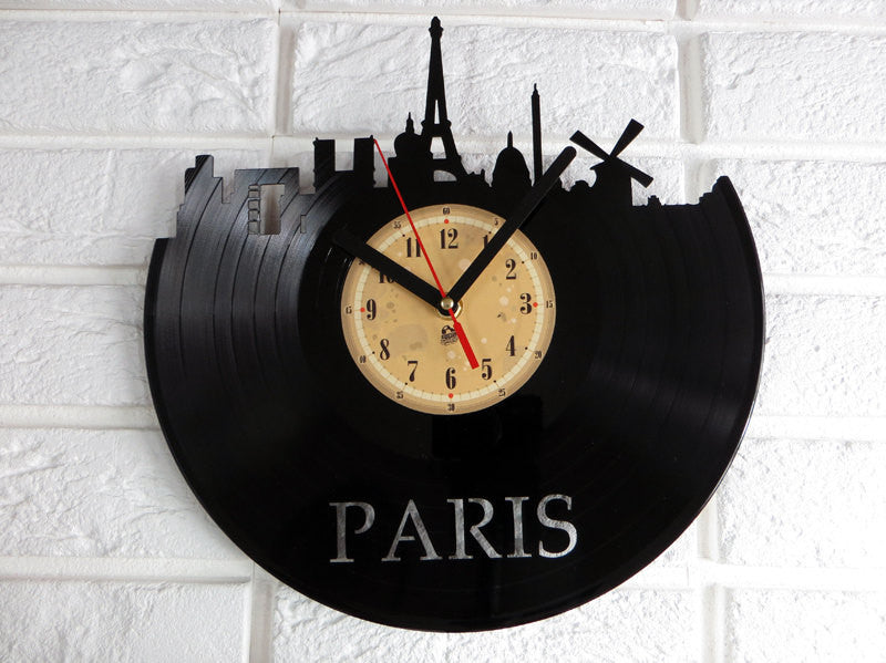 Vinyl Clock - Paris