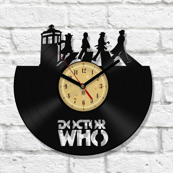 Vinyl Record Clock - Dr Who on the road