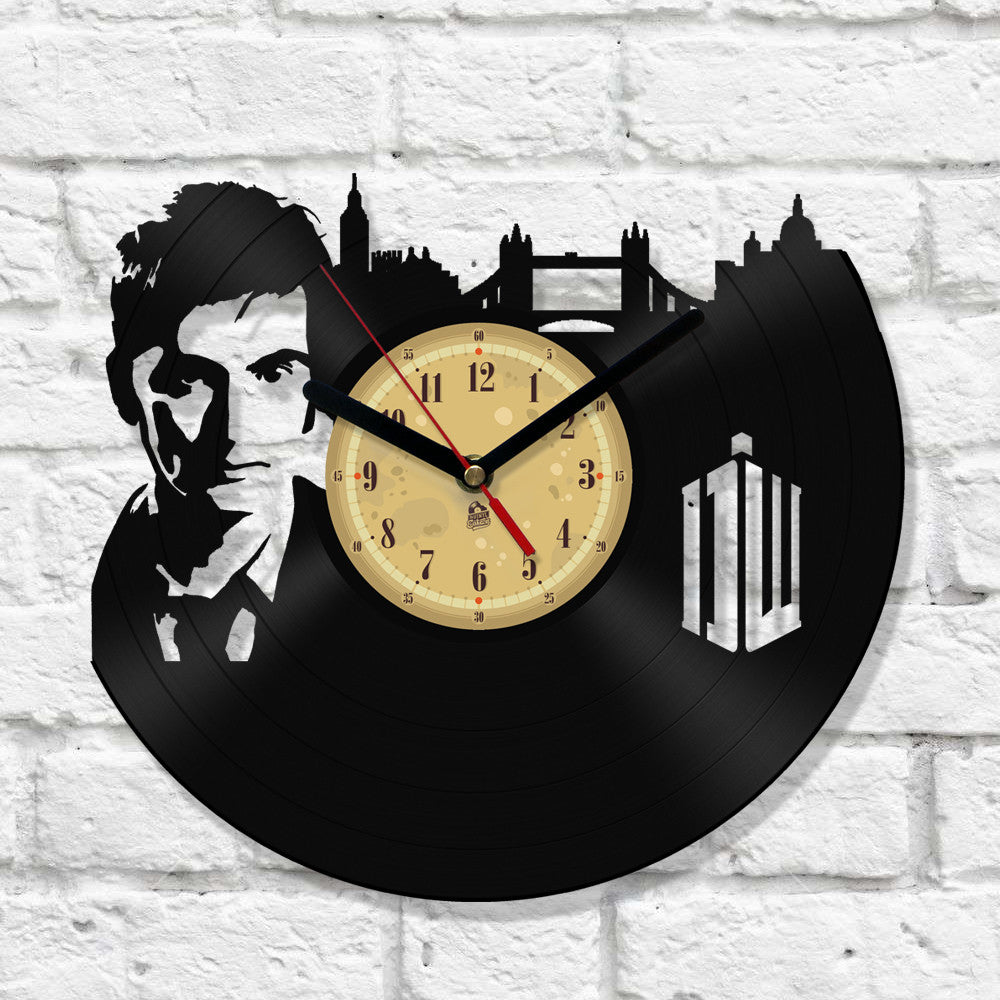 Vinyl Record Clock - Dr Who London