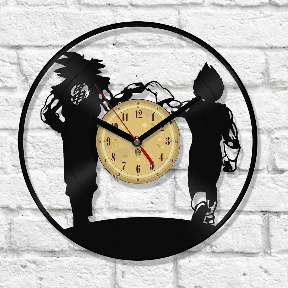 Vinyl Clock -  Goku and Vegeta