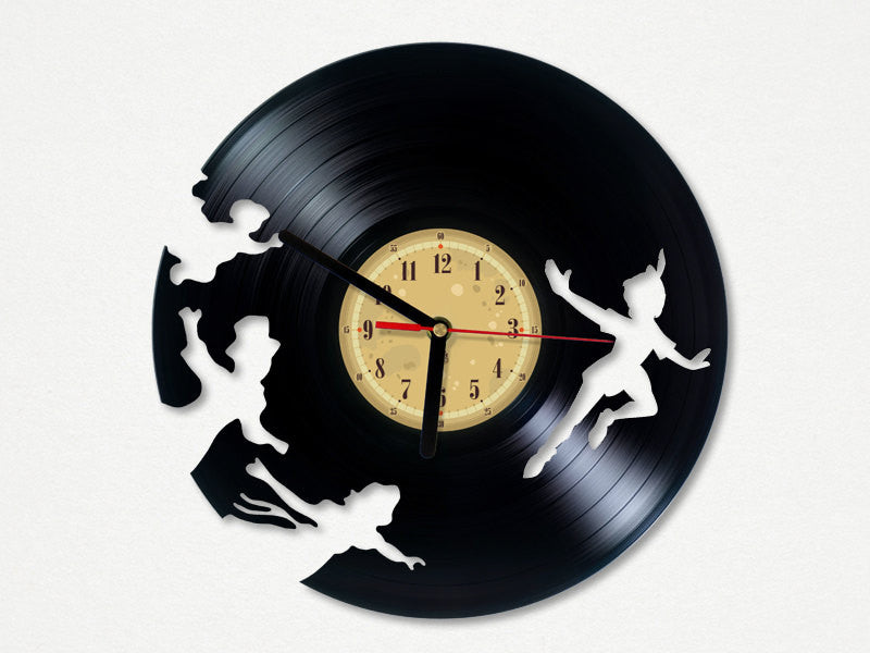 Vinyl Clock - Peter Pan
