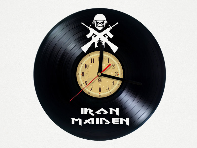 Vinyl Clock - Iron Maiden