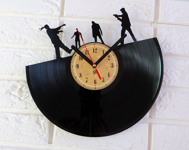 Vinyl Record Clock - Walking dead