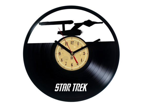 Vinyl Record Clock - Star Trek