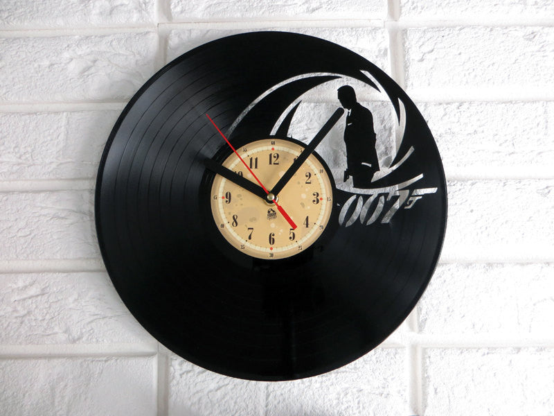 Vinyl Clock - James Bond 007