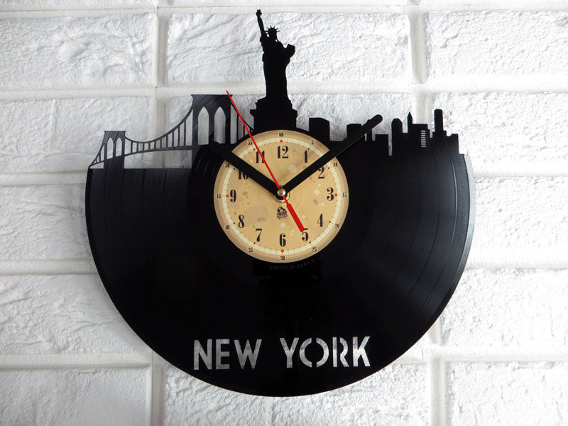 Vinyl Clock - New York