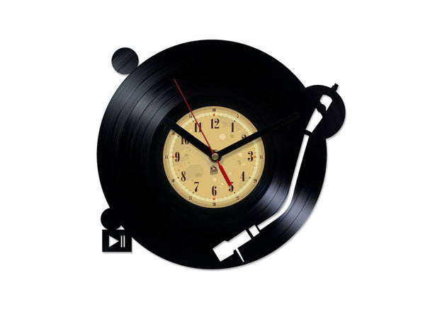 Vinyl Record Clock - Turntable