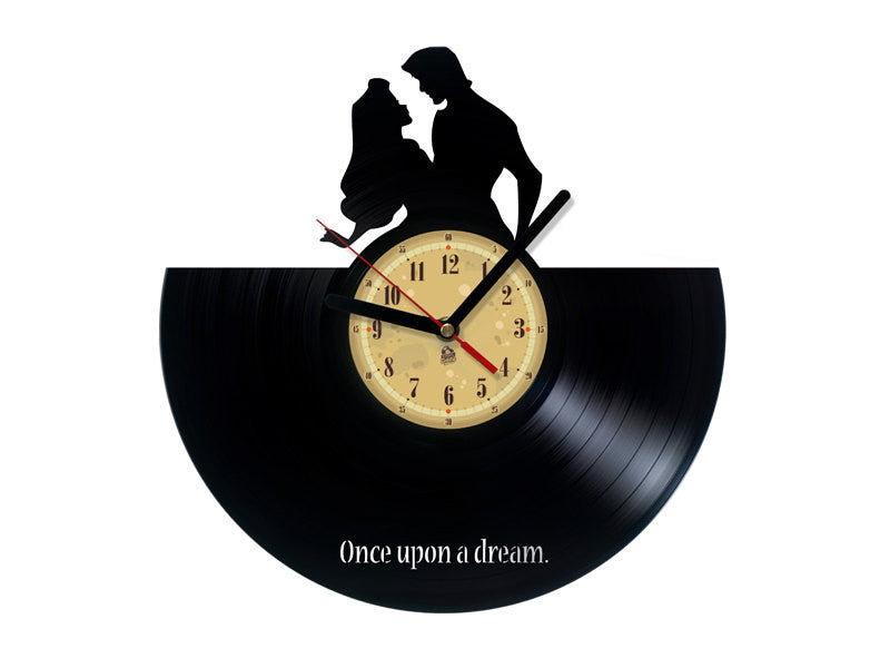 Vinyl Record Clock - Sleeping Beauty
