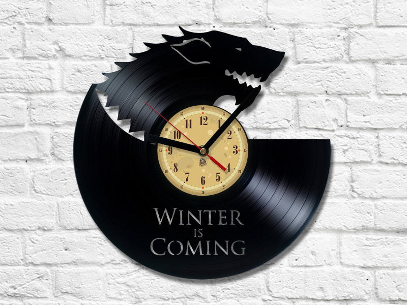 Vinyl Record Clock - Winter Is Coming