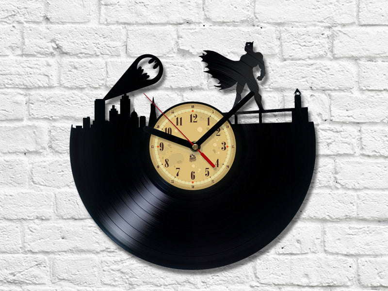 Vinyl Clock - Batman - Gotham City.