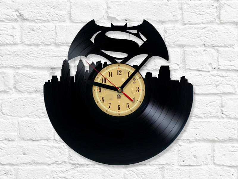 Vinyl Clock - Batman v Superman: Dawn of Justice