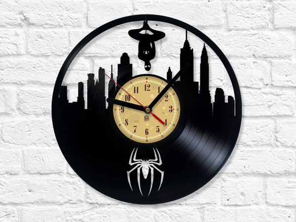 Vinyl Record Clock - Spider-Man