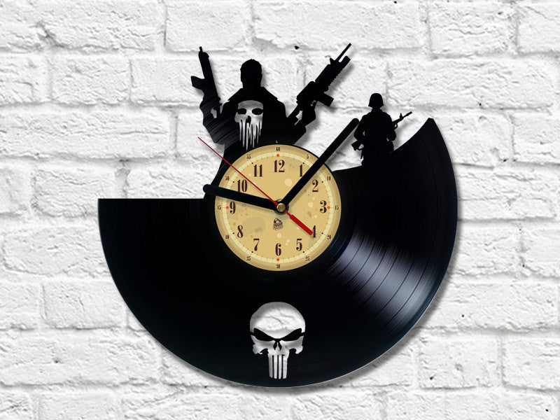 Vinyl Clock - Punisher
