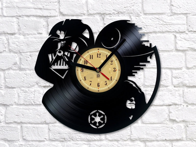 Vinyl Clock -  Dark Side - Star Wars