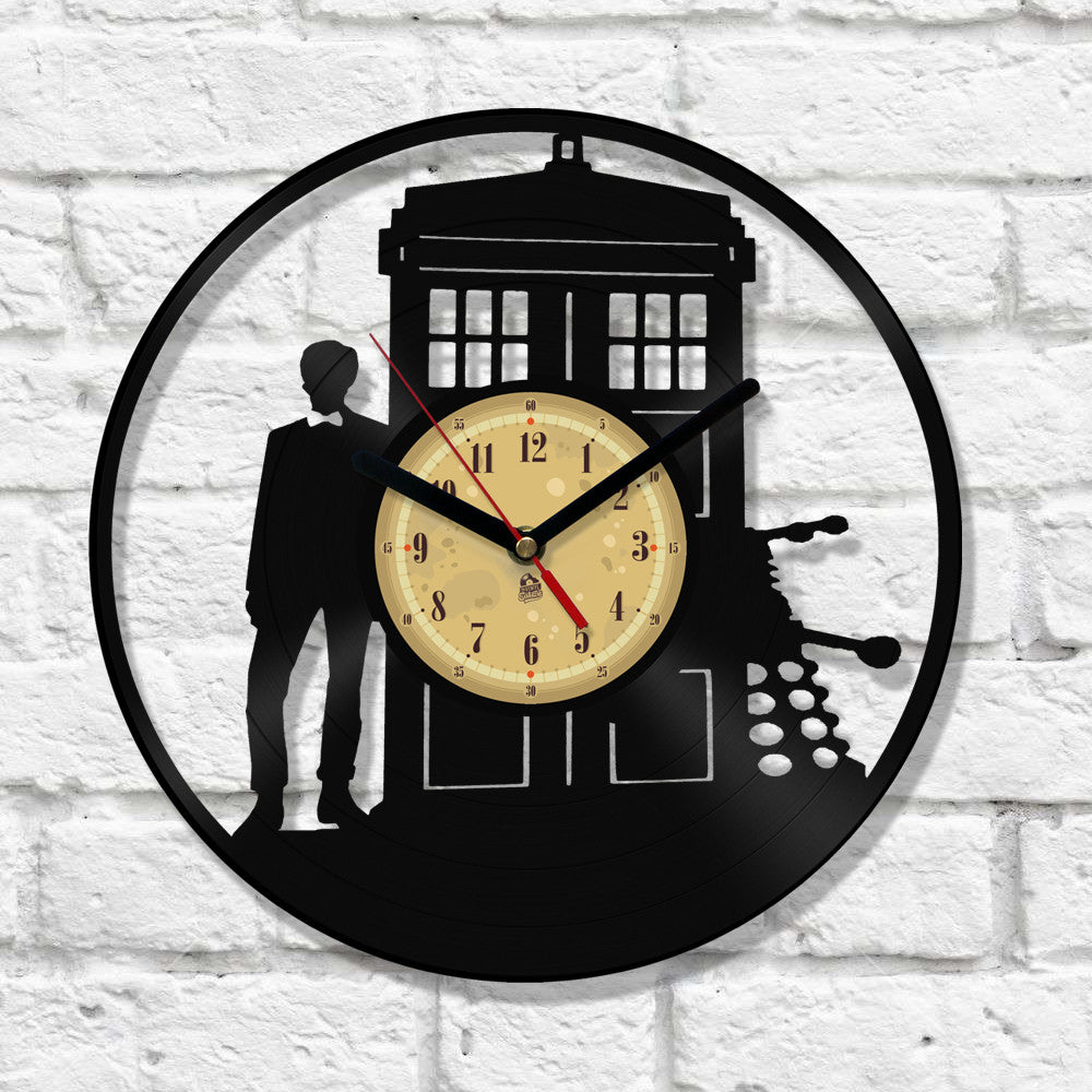 Vinyl Record Clock - Police Box