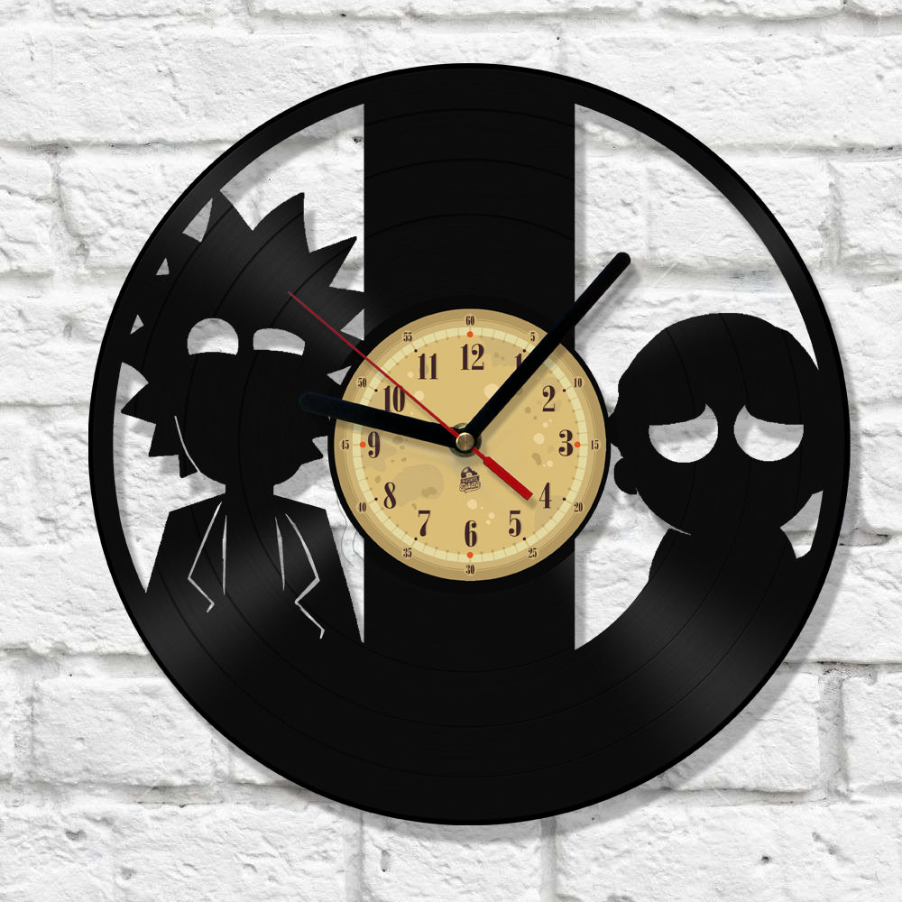 Vinyl Clock - Rick and Morty