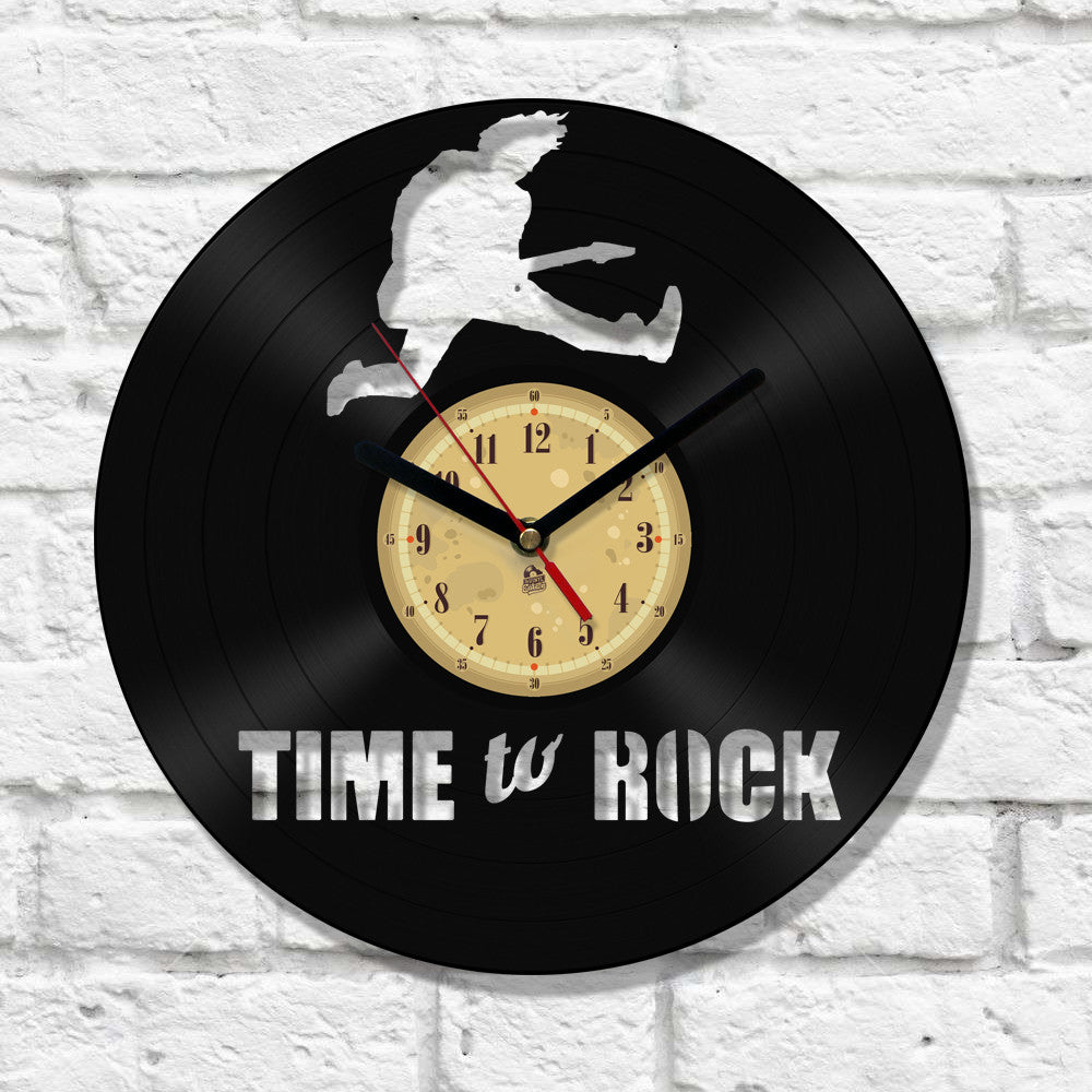 Vinyl Record Clock - Time to Rock