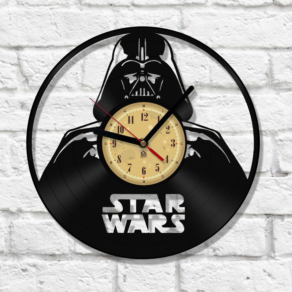 Vinyl Clock Darth Vader Vinyleaters