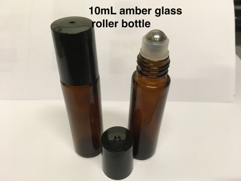 10ml amber glass roll-on bottle