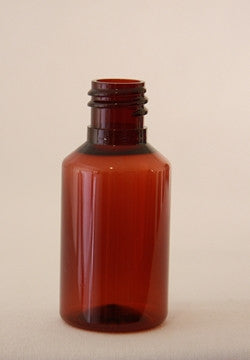 30mL Bottle Amber PET   with Black plastic ribbed screw cap