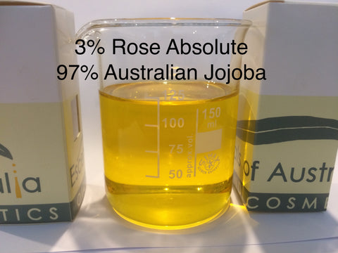 3% Rose Damask dilution in Jojoba Aust.<br><i><small>rosa damascena</small></i></br>