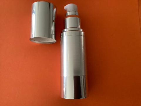 30ml Airless Pump Bottle Silver