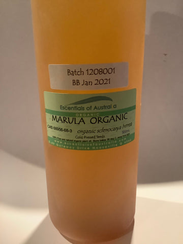 Organic cold pressed marula oil