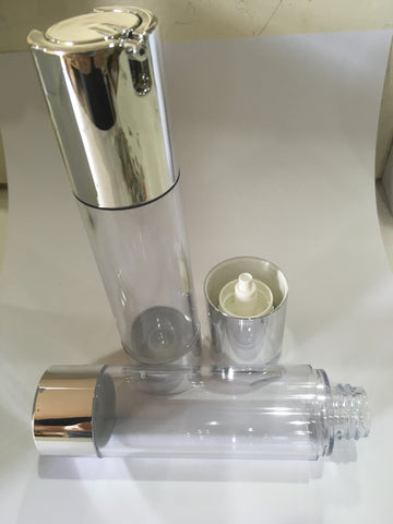 50ml airless bottle clear acrylic