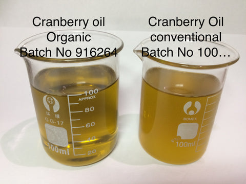 Cranberry Seed Oil Organic  USA <br><i><small>vaccinium macrocarpon</small></i></br>