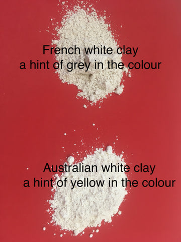 Comparison french white and Australian white clay