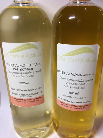 Sweet Almond Oil Australia origin