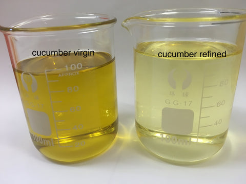 Refined cucumber seed oil