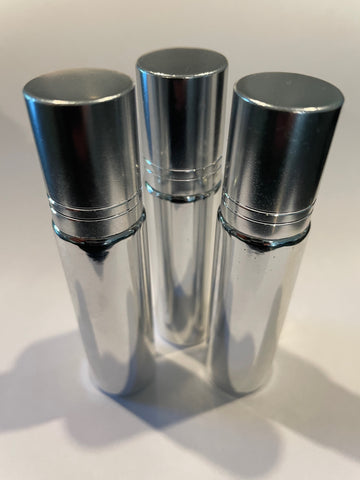 10ml Silver Roller Bottle