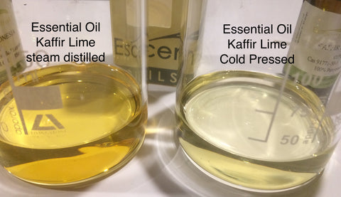 Lime Kaffir essential Oil steam distilled leaf Indonesia <br><i><small>citrus hystrix</small></i></br>