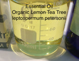 Tea Tree Lemon Essential Oil Organic <br><i><small>leptospermum petersonii<br><i><small/i></br>