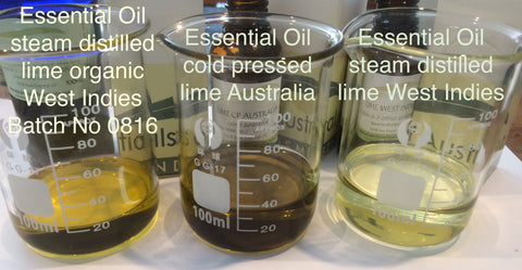 lime essential oil steam distilled