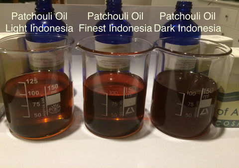 patchouli essential oil steam distilled Indonesia