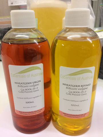 Virgin cold pressed wheatgerm oil