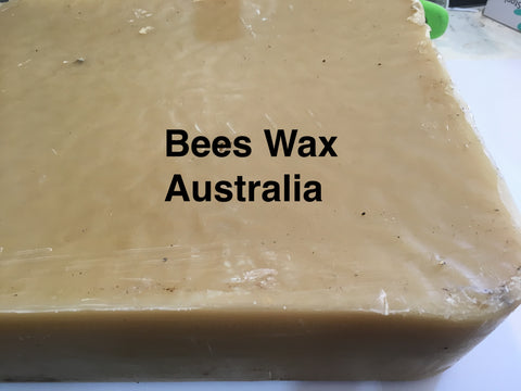 Australian unrefined bees wax