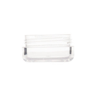 10gm Clear Acrylic  Pot with White Screw Cap