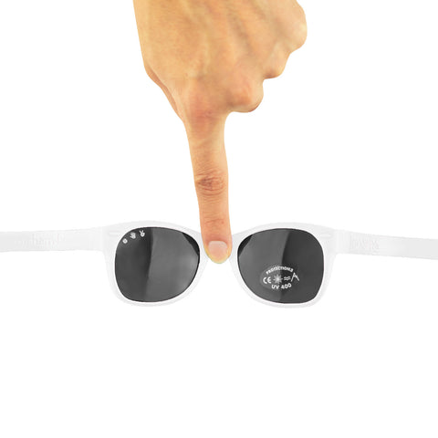 Junior Sunglasses with strap - White