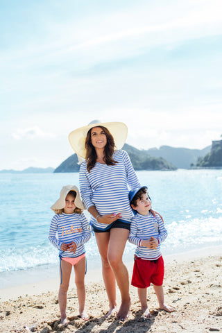 Marine Maternity UV Rash Guard