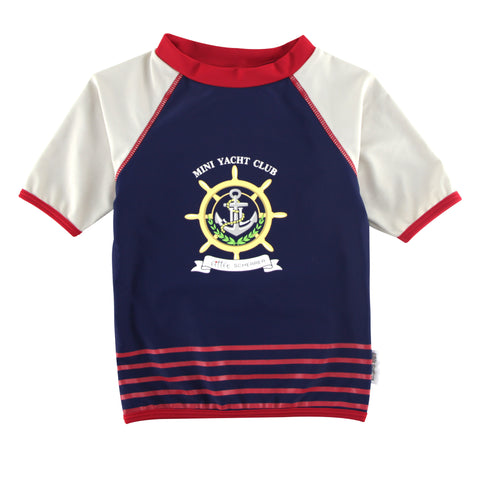 Boys Set - Mini Yacht Club  UV Rash Vest + Swim Short