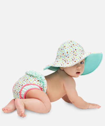 Girls Reversible Ice Cream UV Hat