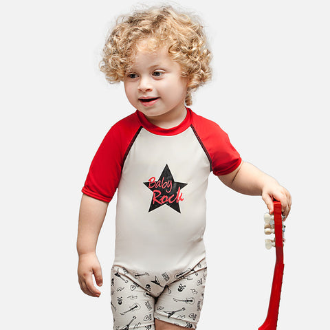 Boys Baby Rock UV Sunsuit